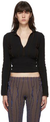 Helenamanzano SSENSE Exclusive Brown and Black Waisted T-Shirt