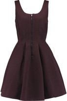 Maje Mesh and neoprene mini dress