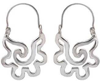 Novica Artisan Crafted Sterling Aztec SeashellDangle Earrings