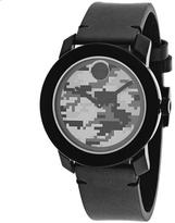 camo watches for men shopstyle movado bold 3600300 men s black stainless steel and leather watch camo dial