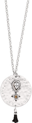 Silpada Women's Necklaces Silver - Sterling Silver Tassel Fringe Necklace With Swarovski Crystals