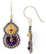 Miguel Ases Beaded Double Drop Earrings