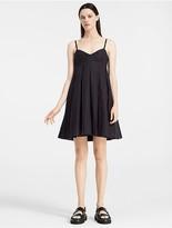 Calvin Klein Lightweight Cotton Pleated Mini Dress