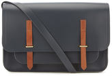 The Cambridge Satchel Company Bridge Closure Bag Navy/tan