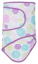 Miracle Blanket Swaddle in Colorful Bursts with Purple Trim