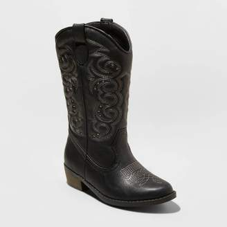 Cat & Jack Girls' Meadow Fashion Boots Black