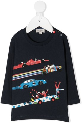 Paul Smith graphic print longsleeved T-shirt