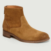 Anthology Paris - Tobacco Suede Leather Ankle Boots - 37 | suede leather | tobacco