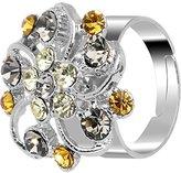 Body Candy Feminine Exotic Flower Adjustable Ring