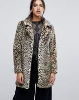 Parisian Faux Leopard Fur Coat