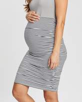 Angel Maternity Maternity Ruched Fitted Bodycon Skirt