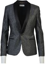 Saint Laurent Silver Lurex Le Smoking Jacket