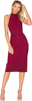 Lover Violet Fitted Halter Dress in Wine. - size Aus 10/US 6 (also in )