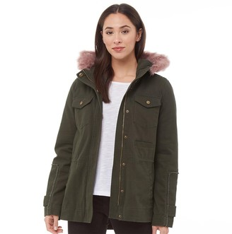 UGG Womens Jodie Convertible Field Parka Olive