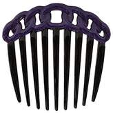 Caravan French Decorated Black Rope Design Twist Comb