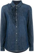 Diesel ruffle detail denim shirt - women - Cotton - XS
