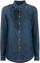 Diesel ruffle detail denim shirt