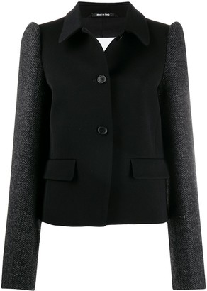 Maison Margiela Puffed-Shoulder Single-Breasted Coat
