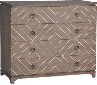 Terrance 4-Drawer Dresser - Graywash - Gabby - frame, graywash/white; hardware, black