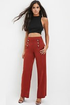 Forever 21 Sailor-Buttoned Wide-Leg Trousers