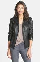 Cole Haan Lambskin Leather Scuba Jacket (Regular & Petite)