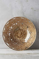Anthropologie Metallic Lace Bowl