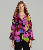 Caroline Rose Floral-Print Jacket