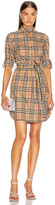 Burberry Long Sleeve Dress in Archive Beige Check | FWRD