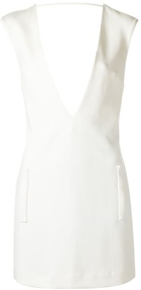 Adriana Degreas Deep V Neck Dress