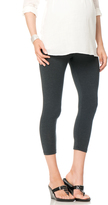 A Pea in the Pod Luxe Essentials Secret Fit Belly Maternity Crop Leggings