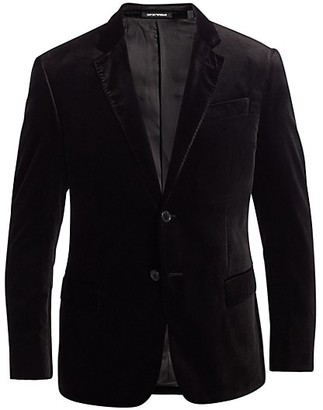 Emporio Armani G-Line Velvet Single-Breasted Jacket
