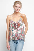 Two Arrows Rug Print Double V Rayon Tank Top