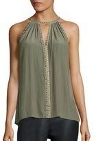 Ramy Brook Karin Studded Silk Top