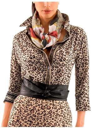 Gretchen Scott Tan Leopard Top