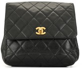 Chanel Pre Owned 1990s CC turn-lock flap backpack