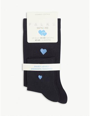 Falke Mini-Me cotton-blend socks set of two