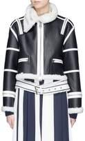 Monse Stripe lambskin leather biker jacket