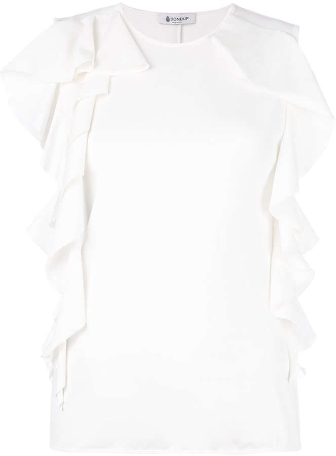 Dondup ruffled sleeves tank top