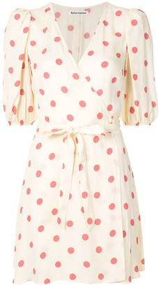 Reformation Olince polka-dot dress