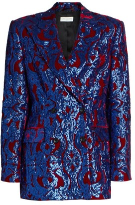 Dries Van Noten Sequin Embroidered Velvet Jacket