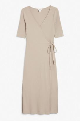 Monki Midi wrap dress