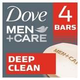 Dove Men+Care Deep Clean Body + Face Bar 4 oz, 4 Bar