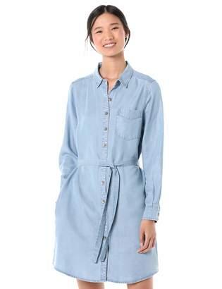Goodthreads Amazon Brand Women's Tencel Long-Sleeve Shirt Dress