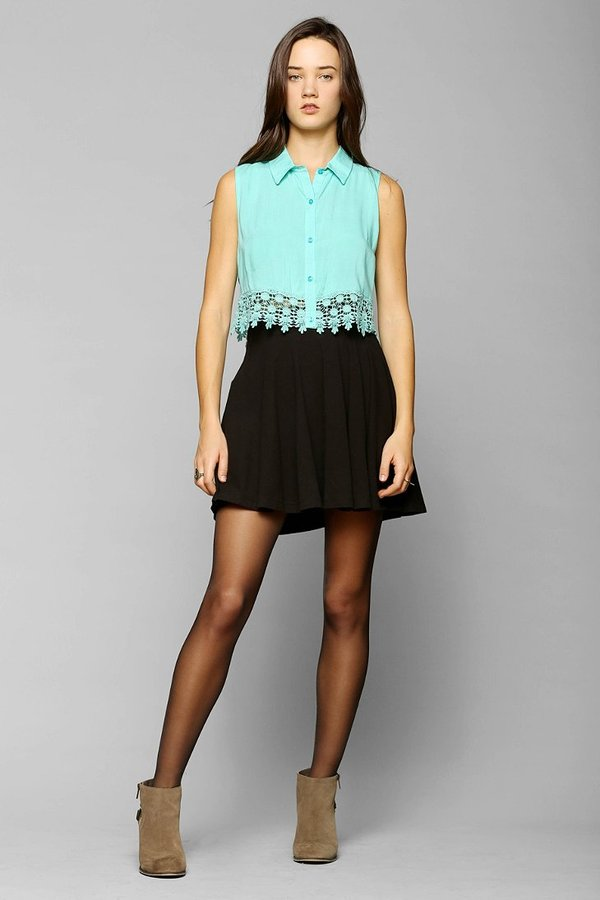 Urban Outfitters Pins And Needles Knit Circle Skirt