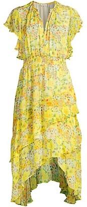 Shoshanna Candela Floral Ruffle Dress