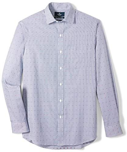 Buttoned Down Men's Classic Fit Supima Cotton Spread-Collar Pattern Dress Casual Shirt