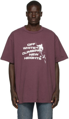 Off-White Off White Purple Climbing New Heights T-Shirt