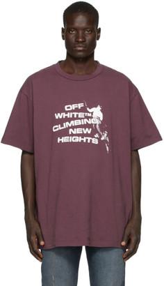 Off-White Purple Climbing New Heights T-Shirt