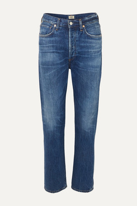 Citizens of Humanity Charlotte High-rise Straight-leg Jeans - Mid denim