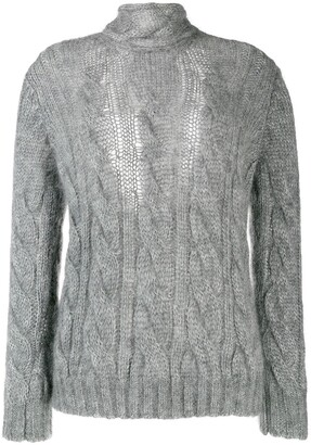 Prada Chunky Cable Knit Sweater